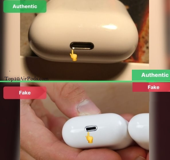 Lightening-Port-AirPods Fake-Vs-Real-Top10AirPods.com
